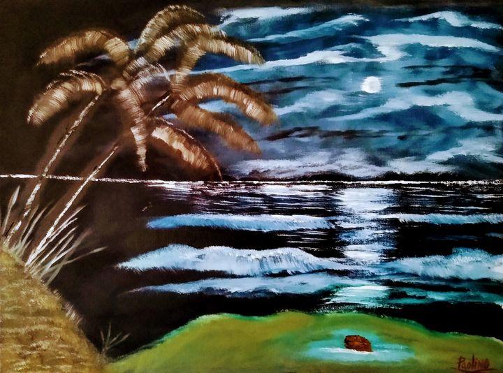 Paradise Under A Blue Moon - Paolino's Art Studio