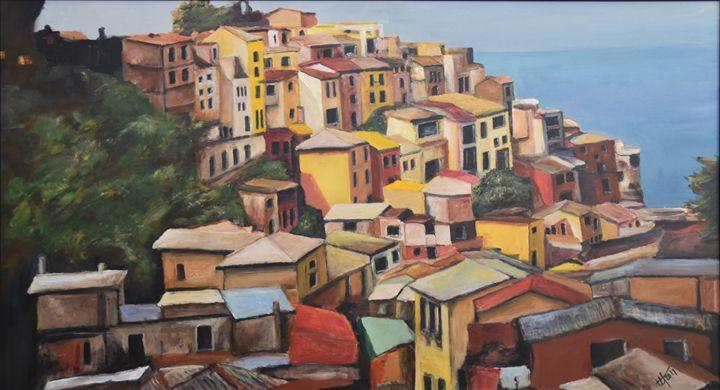 Manarola Colorscape Cinque Terre - Terry Orletsky
