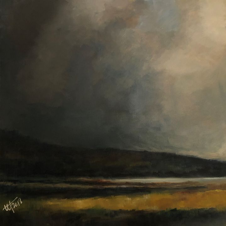 Summer Storm Clouds over the Marsh - Terry Orletsky