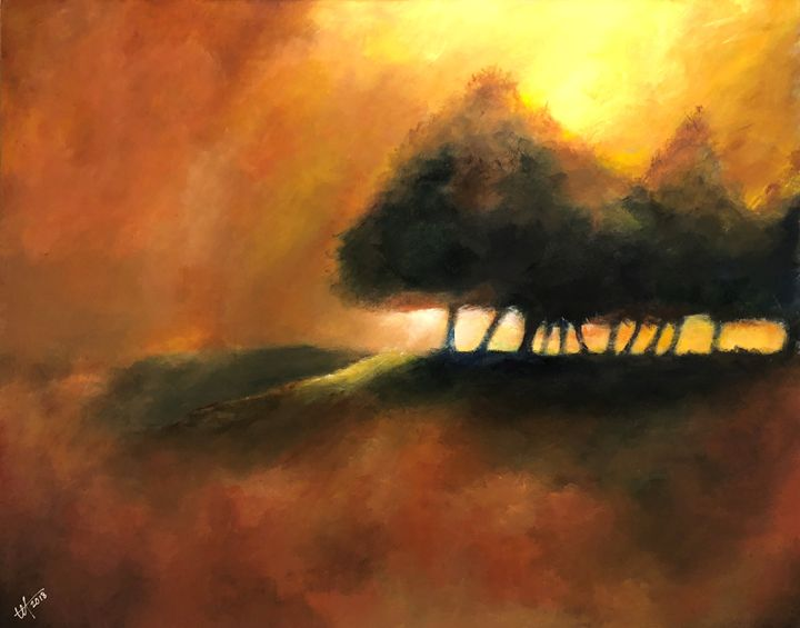 Fog Lifting at Sunrise - Terry Orletsky