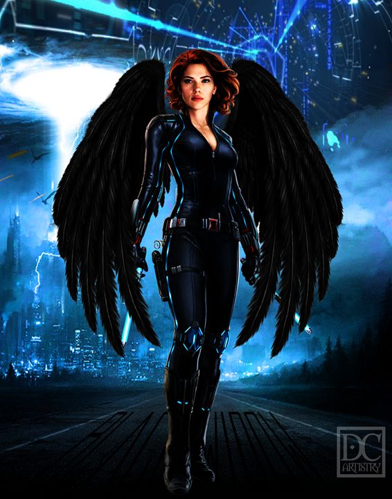 Black Widow (11x14) - DC Artistry
