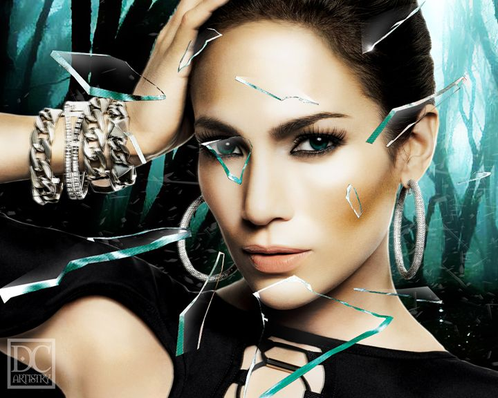 J Lo Broken Glass (8x10) - DC Artistry