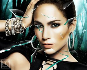 J Lo Broken Glass (8x10)