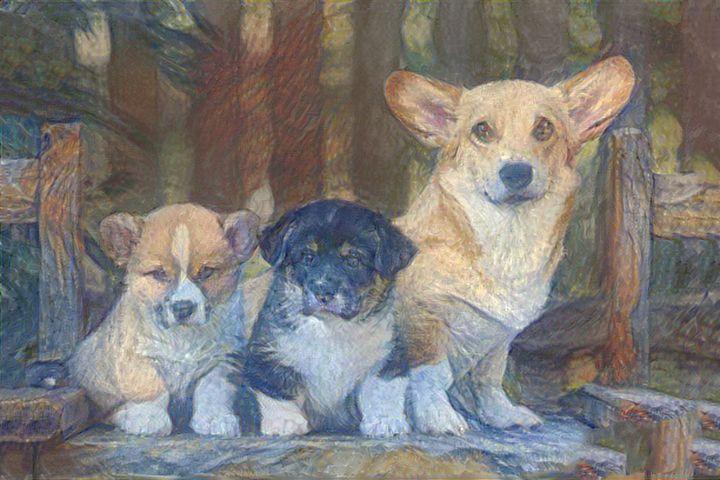 Lovely Puppies - ABDEEES DIGITALS
