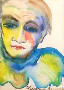 Pierrot Man in Watercolours - Print