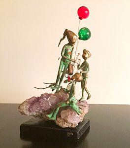 Malcolm Moran Sculpture - 3 Children