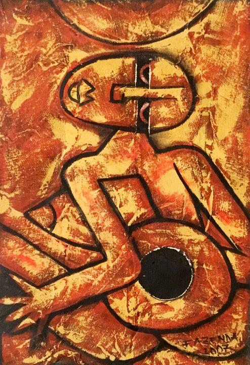 Original African Painting - African Urban Art