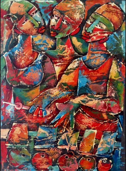 Three African Ladies - African Urban Art