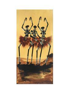Rose Kamoto - Three Masaai Dancers