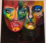 Acrylique visages