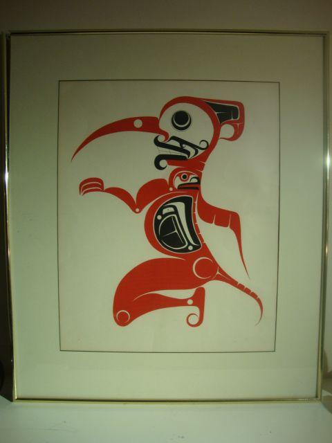 Man transforming into Eagle - Kwoyatsk Gallery