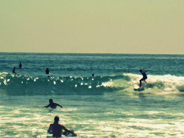 Enjoying San Diego - Blue Fusion Surf Art