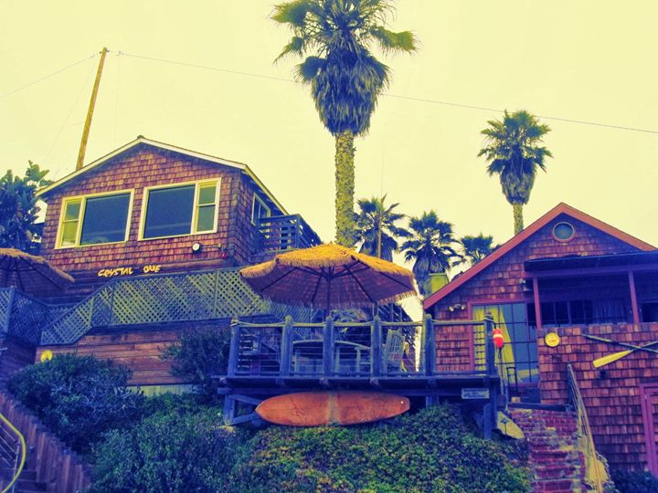 Crystal Cove Houses - Blue Fusion Surf Art