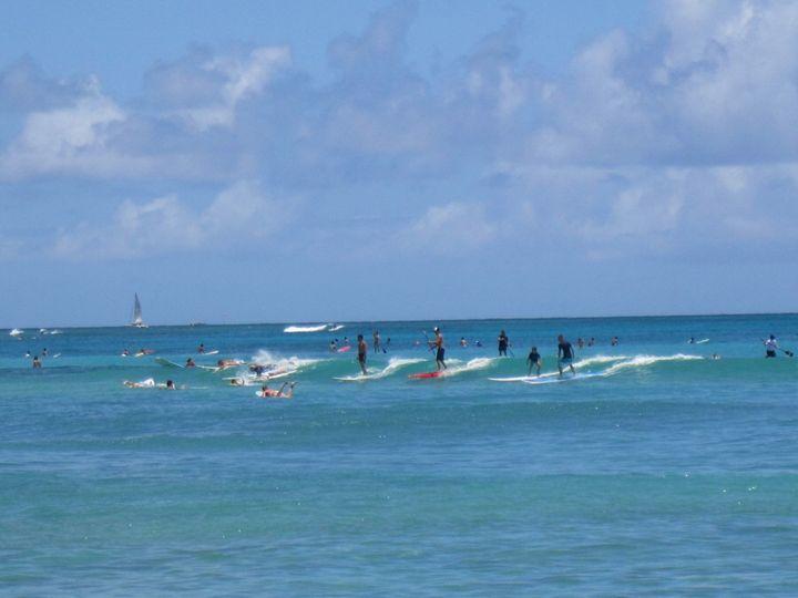 Waikiki Lineup - Blue Fusion Surf Art