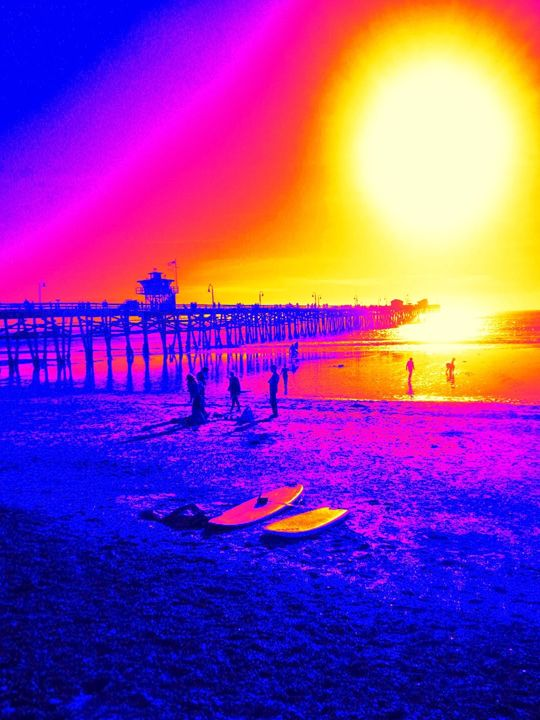 Warmth of the Sun - Blue Fusion Surf Art