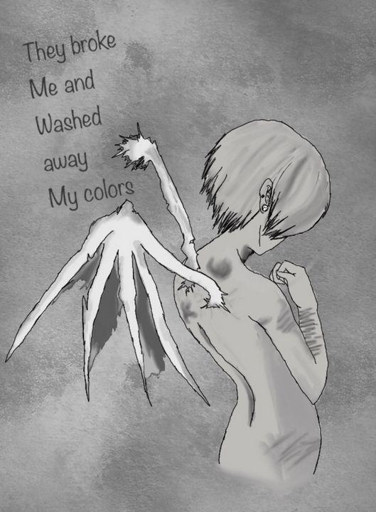 Anime black and white angel - Mercatacorn