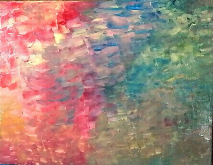 Rainbow  Forest by Annette Marshall - Annette's Art Creations