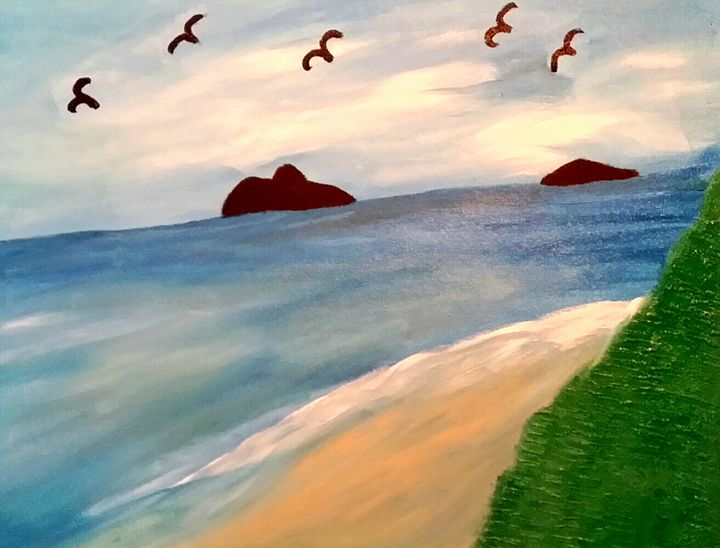 By the Ocean by Annette Marshall - Annette's Art Creations