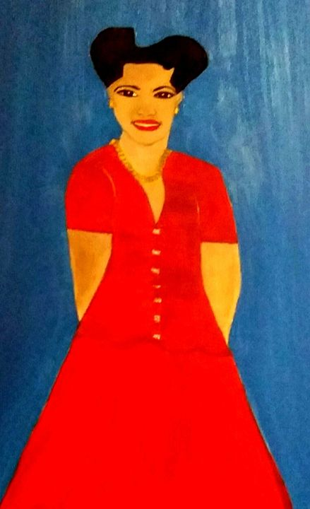 Lady in Red by Annette Marshall - Annette's Art Creations