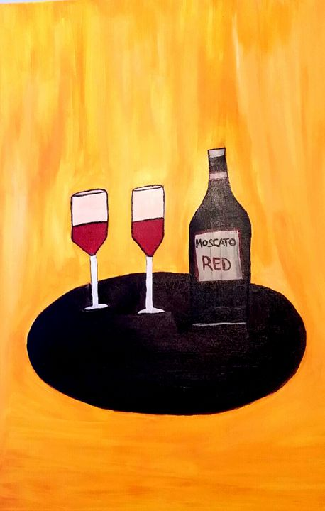 Wine for two by Annette Marshall - Annette's Art Creations