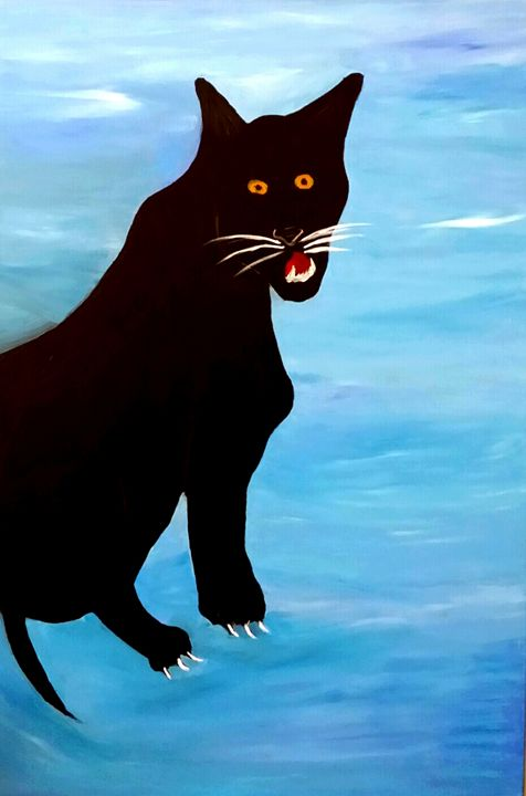 Black Panther by Annette Marshall - Annette's Art Creations