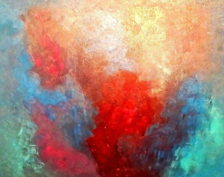 Aqua Blue by Annette Marshall - Annette's Art Creations