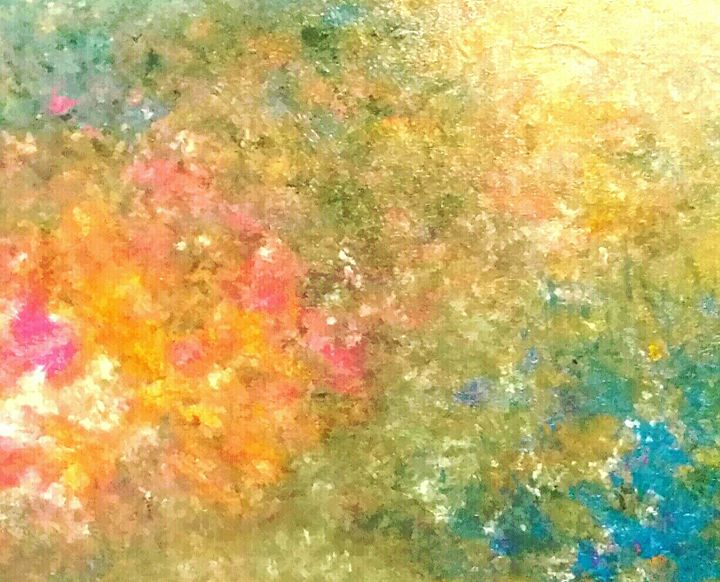 Green Burst By  Annette Marshall - Annette's Art Creations