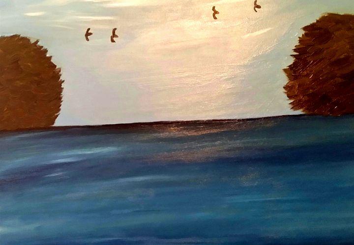 Blue Serenity by Annette Marshall - Annette's Art Creations