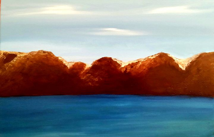 Blue Lagoon by Annette Marshall - Annette's Art Creations