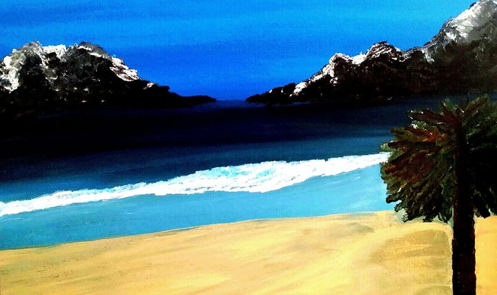 Tahiti  Island by Annette Marshall - Annette's Art Creations