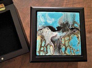 Golden Horses Jewelry/Trinket Box