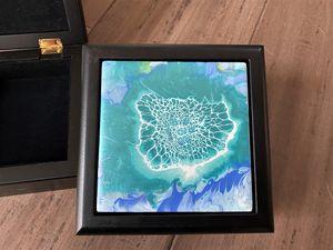 Blue Lace Box - McIntyre Fine Design