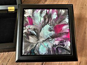Blue Daffodil Jewelry/Trinket Box