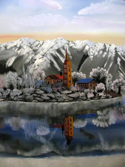 Snowy Paradise - Art by Brad Kammeyer