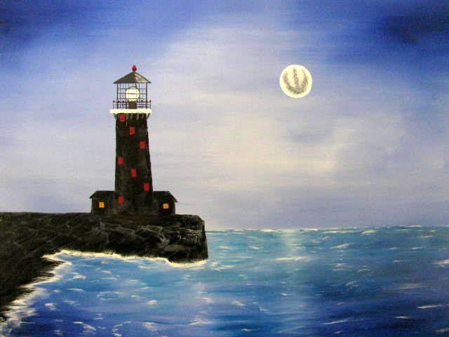Rock Pier Lighthouse - Art by Brad Kammeyer