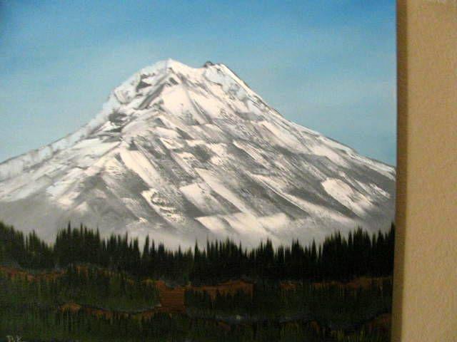 Snow Covered Volcano - Art by Brad Kammeyer