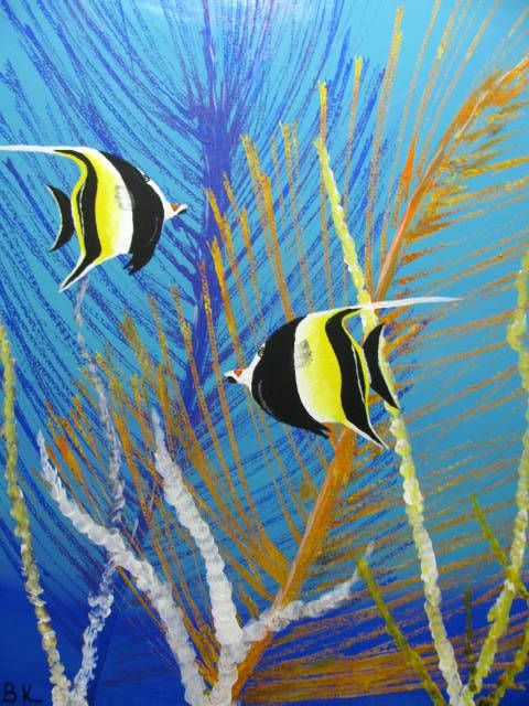 Butterfly Angelfish - Art by Brad Kammeyer