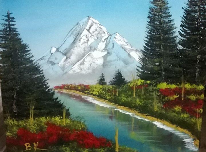 Alaska river scene - Art by Brad Kammeyer - Paintings