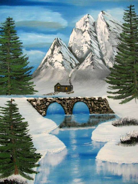 Cobble Stone Bridge - Art by Brad Kammeyer