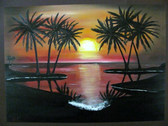 Sunset/Sunrise Palm Tree's - Art by Brad Kammeyer