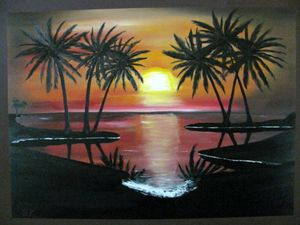 Sunset/Sunrise Palm Tree's
