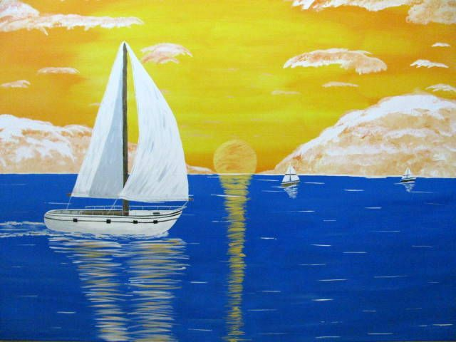 Sail Boat Sunset - Art by Brad Kammeyer