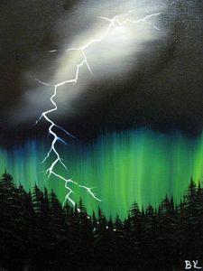 Northern lights \ lightning