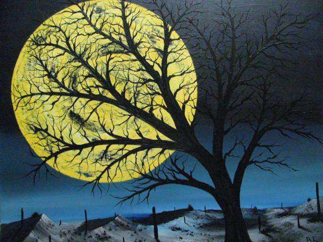 Arizona Desert Moon - Art by Brad Kammeyer