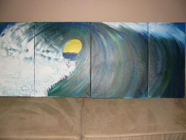 California Wave Pipe Surfing - Art by Brad Kammeyer