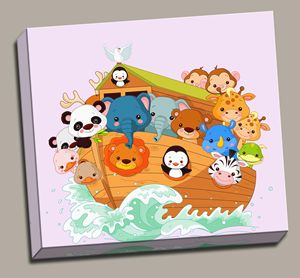 Noah's Ark Child Canvas Gallery Wrap