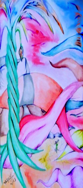 Flower color world - JJFL Art's