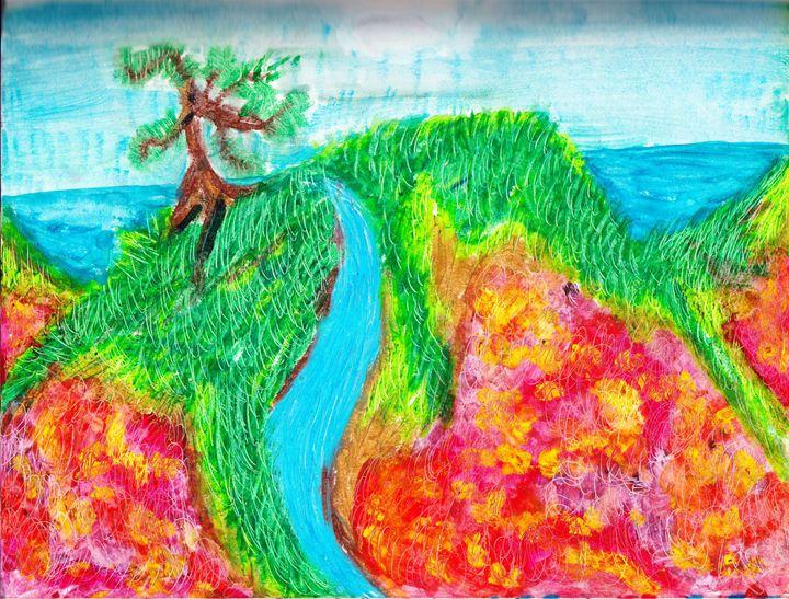 Flower in the hill - JJFL Art's