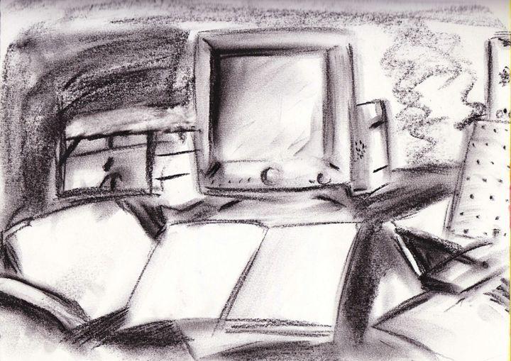 Book n computer - JJFL Art's