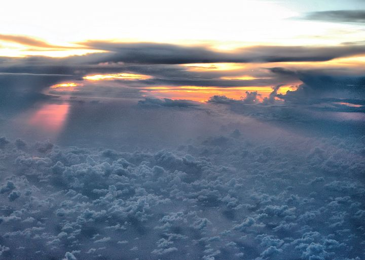 Sunset at 30,000 feet - PhillySnaps